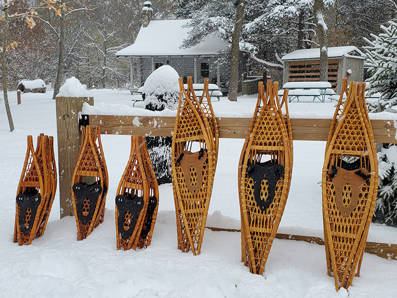 Snowshoes available at DeGraaf Nature Center