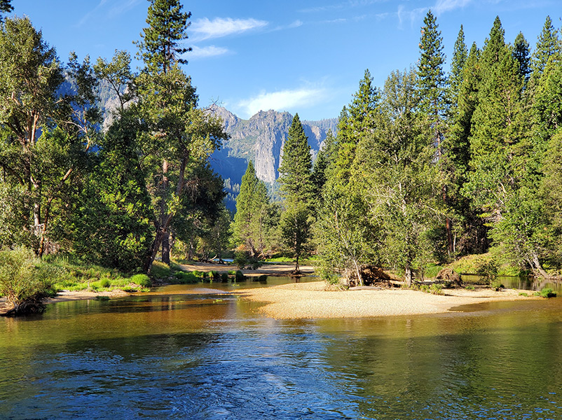 river in yosemite