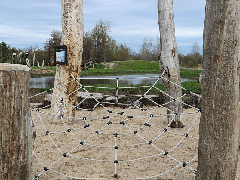 outdoor natural climbing structure